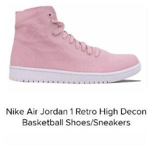 Nike Air Jordan 1 Retro High Decon Sneakers Pink
